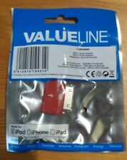30 Pin male to Micro USB B Female Adapter for iPhone 4 4s iPad iPod  RED