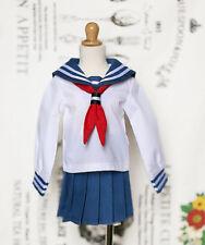 1/3 bjd SD13 girl smart doll Clothes Outfit School Uniform dress navy