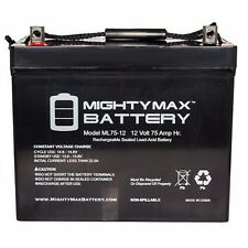 TWO 12V 75AH GRP 24 Batteries Gel for Scooters, Power Chairs, Golf Carts, etc
