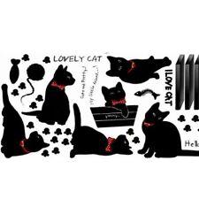 Sticker mural Mignon Chat DIY Famille Sticker Mur Papier Autocollant WT