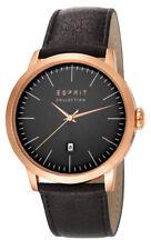 Esprit Collection Herrenuhr soter black rose EL102131F03 Analog  Leder Schwarz
