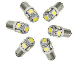LOT 10 Ampoules BA9S LED T4W Veilleuses 6000K  plafonnier INTÉRIEUR phare 12V