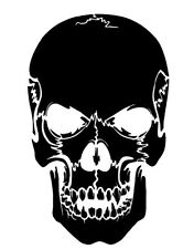 Skull Cracking Stencil Durable & Reusable Plastic Stencils 7x5