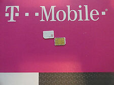 NEW T-MOBILE 4G 4FF NANO SIM Card NEW & EXISTING PREPAID,POST PAY OR REPLACEMENT