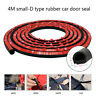 4M 160''D-Shape Rubber Weather Seal Hollow Car Door Strip Weatherstrip Universal