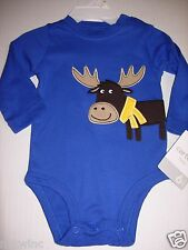 Carter's Infant Boy's Bodysuit Creeper Bodysuit Baby Moose 6 Months NWT
