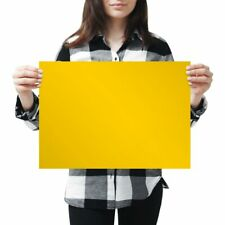 A3 - Deep Yellow Colour Block Poster 42X29.7cm280gsm #44866
