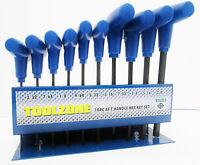10PC AF Imperial T Bar T Handled Hex / Allen Keys Set  TZ HX016