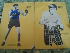 2 old vintage Paper Prints of Boxers from USA 1972