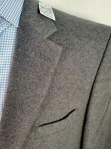 NEW Jos A Bank Men 48R GRAY Wool Silk Tailored Fit Duel Vent Sport Coat Blazer