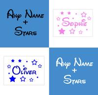 Disney Name Wall Sticker Personalised Walt Vinyl Girls Boys Decal Children Stars