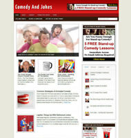 COMEDY & JOKES WEBSITE BLOG WITH AFFILIATE STORE & FREE DOMAIN + HOSTING