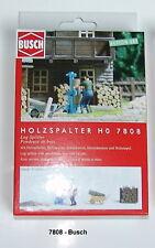 Busch Ho 7808 Action-Set : Fendeuse à Bois avec Figurine + Accessoire Modèle