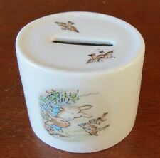 Wedgwood Beatrix Potter Porcelain Peter Rabbit and the Sparrows Oval Bank