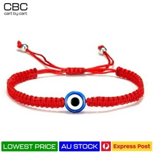Handmade Evil Eye Bracelet Braided Greek Turkish Protection Blue RED Lucky Charm