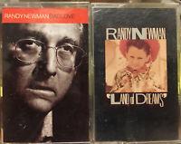 Randy Newman Cassette Lot (2) Bad Love & Land Of Dreams