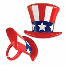 12 Patriotic Hat Cupcake Ring Party/Favor 4th of July