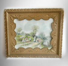Chandler signed pastel print of children and farm scene - FREE SHIPPING