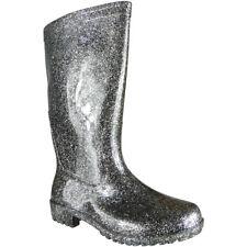 Womens Ladies Winter Rain Flat Chelsea Calf Wellies Wellington Boots Shoes Size