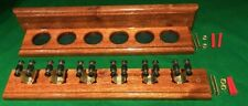 SNOOKER/POOL MAHOGANY HAND CRAFTED 6 CUE RACK.. EASY ASSEMBLY