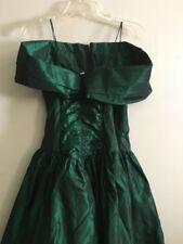 Jessica McClintock Gunne Sax Green Off shoulder Dress Women Size 7/8 Stylish
