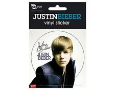 JUSTIN BIEBER vest 2011 circular VINYL STICKER official merchandise