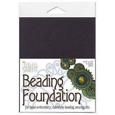 Beading foundation perle broderie cabochon perles - 4x noir feuille 4.25x5.5 en