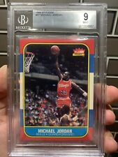 1986 Fleer Basketball Michael Jordan ROOKIE RC #57 BGS 9 MINT🔥 Razor Sharp 🐐