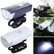 300LM USB Rechargeable Bike Front Head Light Cycling Bicycle LED Lamp 3 Mode