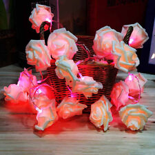 2M 20 LED Rose Flower String Fairy Lights Wedding Party Xmas Battery Operated