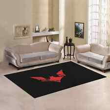 Sweet Home Custom  Batman logo red dark hero Area Rug  5'x3'3'' Carpet