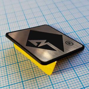 Rockford Fosgate Decal Sticker Metallic Aluminium Logo Badge