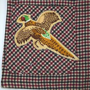 Vintage Pendleton 49'er Jacket M Gun Club Check Pheasant Patch Cobain Grunge