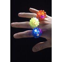 2 x Women's Light Up Jelly Fancy Dress Rings Pride LGBT Hen Fun Assorted Colour