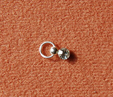 Piercing Steinchen in Klar ohne Verschluss  925 Silber