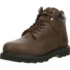 Brazos Men's Tradesman Brown Soft Toe Lace Up Slip Oil Resistant Work Boots