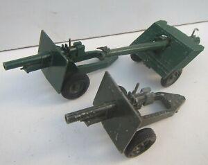3 x Vintage BRITAINS Ltd Military Howitzer Field Guns