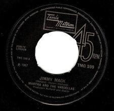 MARTHA REEVES AND THE VANDELLAS Jimmy Mack Vinyl 7 Inch Tamla Motown TMG 599