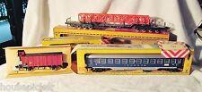 (3) Fleischman HO Gauge Rolling Stock Wagon 1484 1494 Passenger Touropa 1509 Box