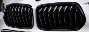 BMW Genuine X2 Black Radiator Kidney Grill Set Pair M Performance F39 2455246/7