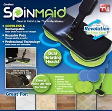 Spin Maid Rechargeable Cordless Powered Floor Cleaner Scrubber Polisher Mop TV