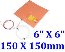 "6"" X 6"" 150 X 150mm 300W w/ 3M Thermistor in Center 3D Printer Silicone Pad"