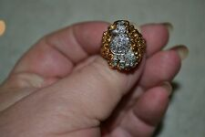 Diamond and Gold Poodle Ring