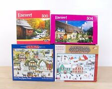 """Lot Of 4 American Collections Jigsaw Puzzle """"Once Upon A Winter"""" Christmas New"""