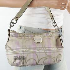 New Coach Signature Tartan Demi Shoulder Bag Crossbody F17210 Lilac New RARE