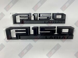 15 thru 20 F-150 OEM Ford Black Special Edition Fender Emblem Set Lariat