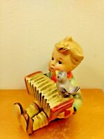 Let's Sing Hummel Figurine #110/0 TMK-2 Full Bee Accordion & Bird Vintage