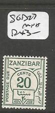 Zanzibar SG D27 MNH (7cmk)