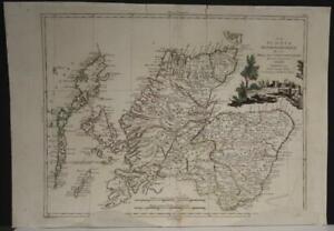 NORTHERN SCOTLAND 1779 ANTONIO ZATTA  ANTIQUE ORIGINAL COPPER ENGRAVED MAP