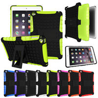 Shockproof Armor Rubber With Kick Stand Case Cover For iPad 5 Air Pro Mini 1234